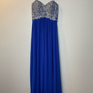 Decode 1.8 Womens 2 Prom Dress Gown Blue Sequin